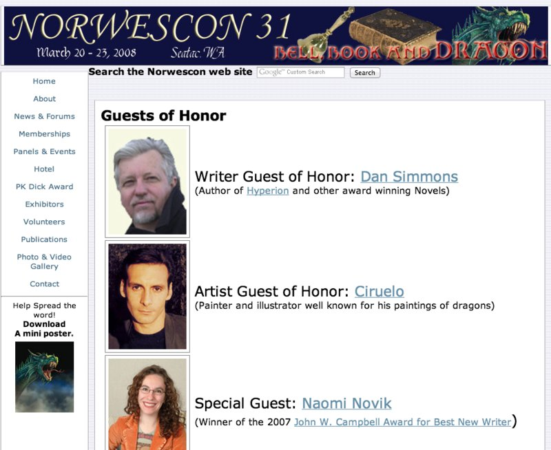 Norwescon 31 - Home (20121112).png