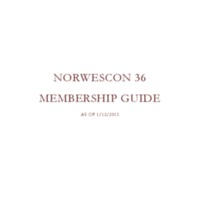 Norwescon 36 Membership Guide