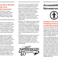 Norwescon 40 Accessibility Brochure