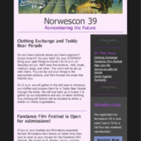 Norwescon 39 January 18 Newsletter
