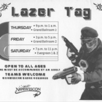 Norwescon 34 Lazer Tag Flyer