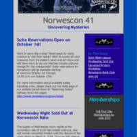 Norwescon 41 September 16 Newsletter