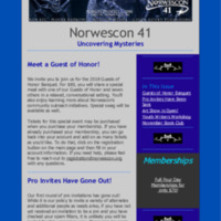 Norwescon 41 October 15 Newsletter