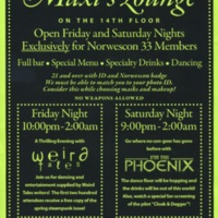 Norwescon 33 Maxi's Lounge Flyer