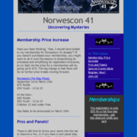 Norwescon 41 August 18 Newsletter
