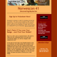 Norwescon 41 March 17 Newsletter