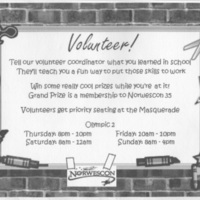 Norwescon 34 Volunteering Flyer