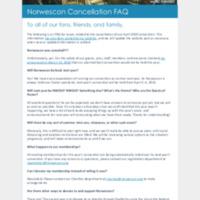 Norwescon 43 Cancellation FAQ