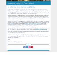 Norwescon 43 Cancellation Notice