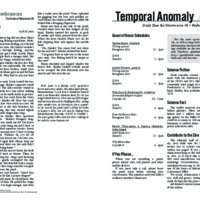 Temporal Anomaly (Friday)