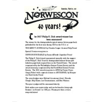 Norwescon 40 Daily Zine (Saturday)