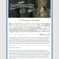 Norwescon 43 March 19 Newsletter