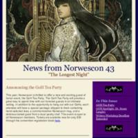 Norwescon 43 November 16 Newsletter