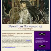Norwescon 43 November 1 Newsletter