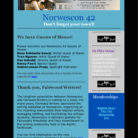 Norwescon 42 September 25 Newsletter