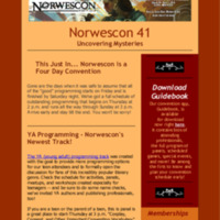Norwescon 41 March 23 Newsletter