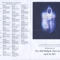 2016 Philip K. Dick Awards Program