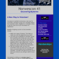 Norwescon 41 November 15 Newsletter
